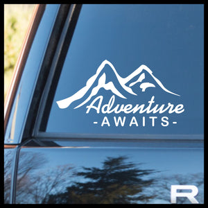 Adventure Awaits, Nature Calls Outdoor Motivation Vinyl Car/Laptop Decal