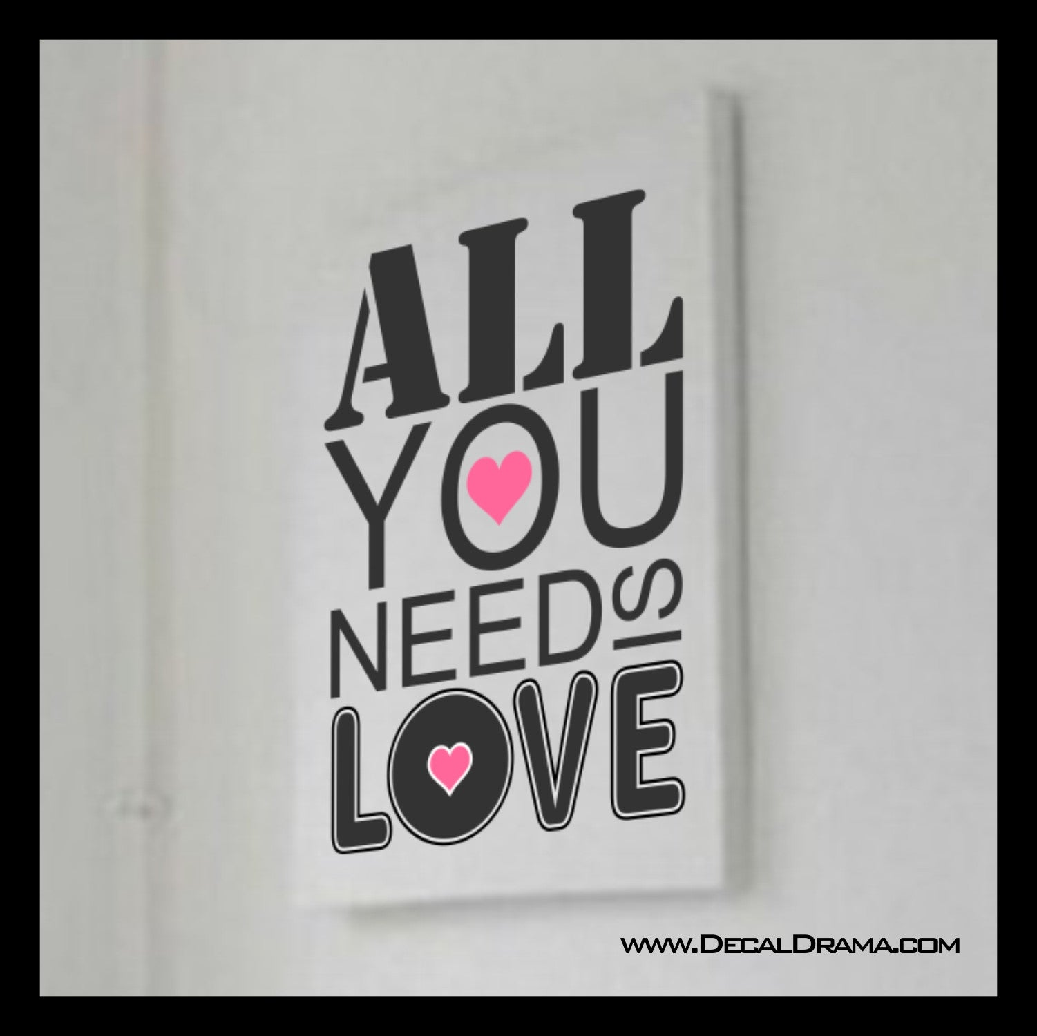 All You Need Is Love, John Lennon The Beatles lyric Vinyl Wall Decal
