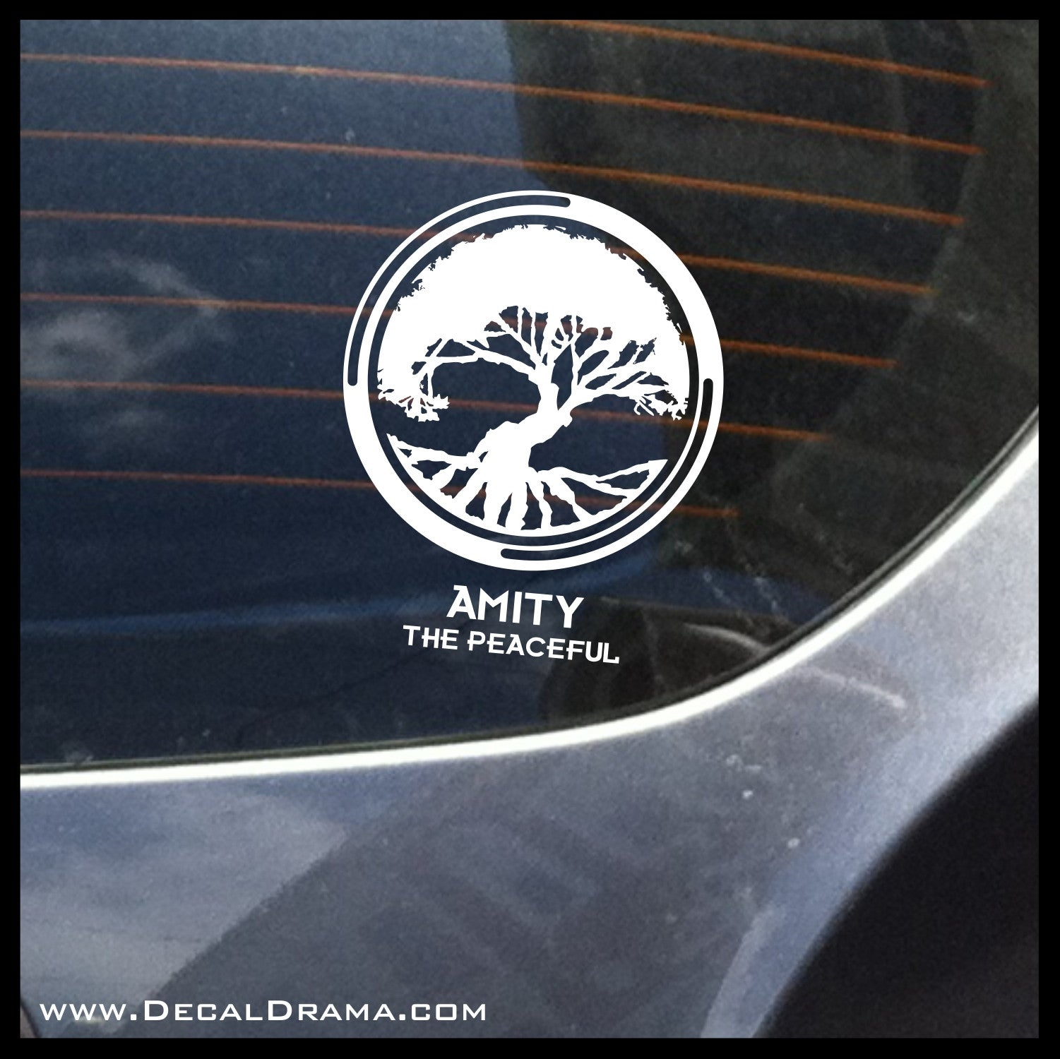 Amity the Peaceful, Divergent-inspired Fan Art Vinyl Car/Laptop Decal