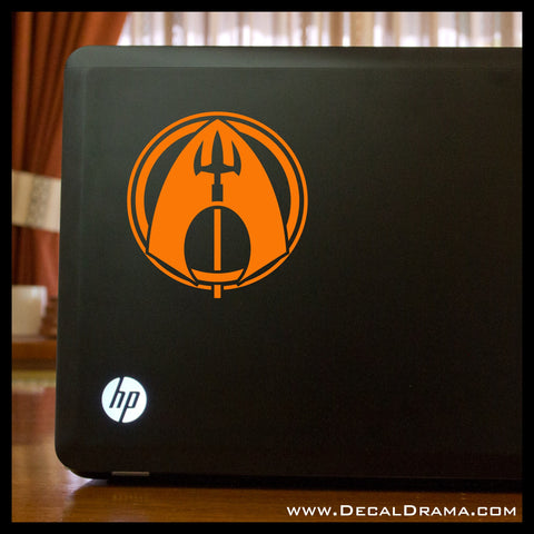 Aquaman emblem, DC Comics-inspired Justice League Fan Art Vinyl Car/Laptop Decal