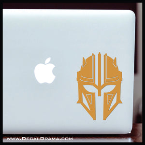 Armorer helmet, Mandalorian-Inspired Fan Art Vinyl Wall Decal