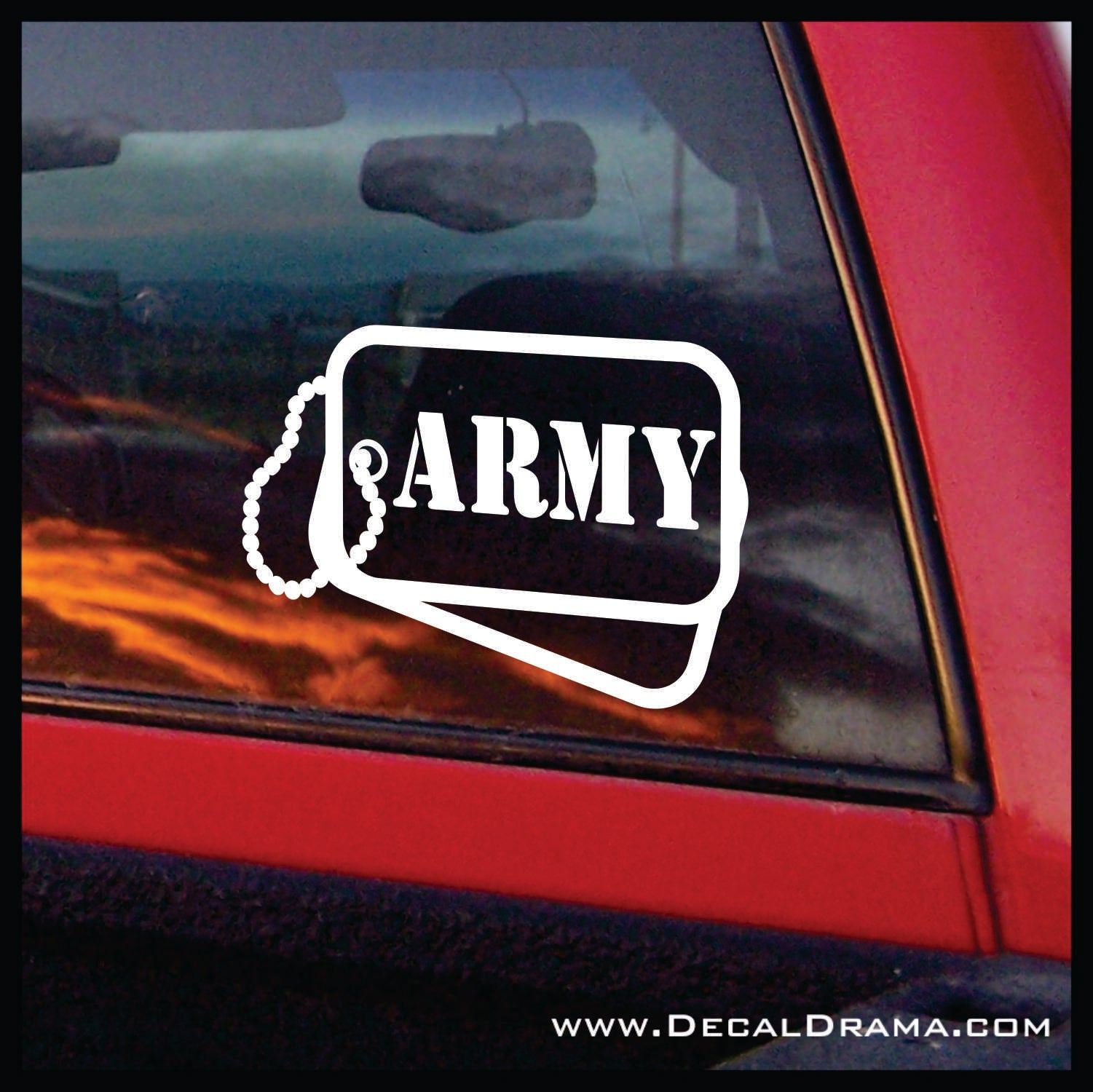 Army Dog Tags, United States Armed Forces Vinyl Car/Laptop Decal