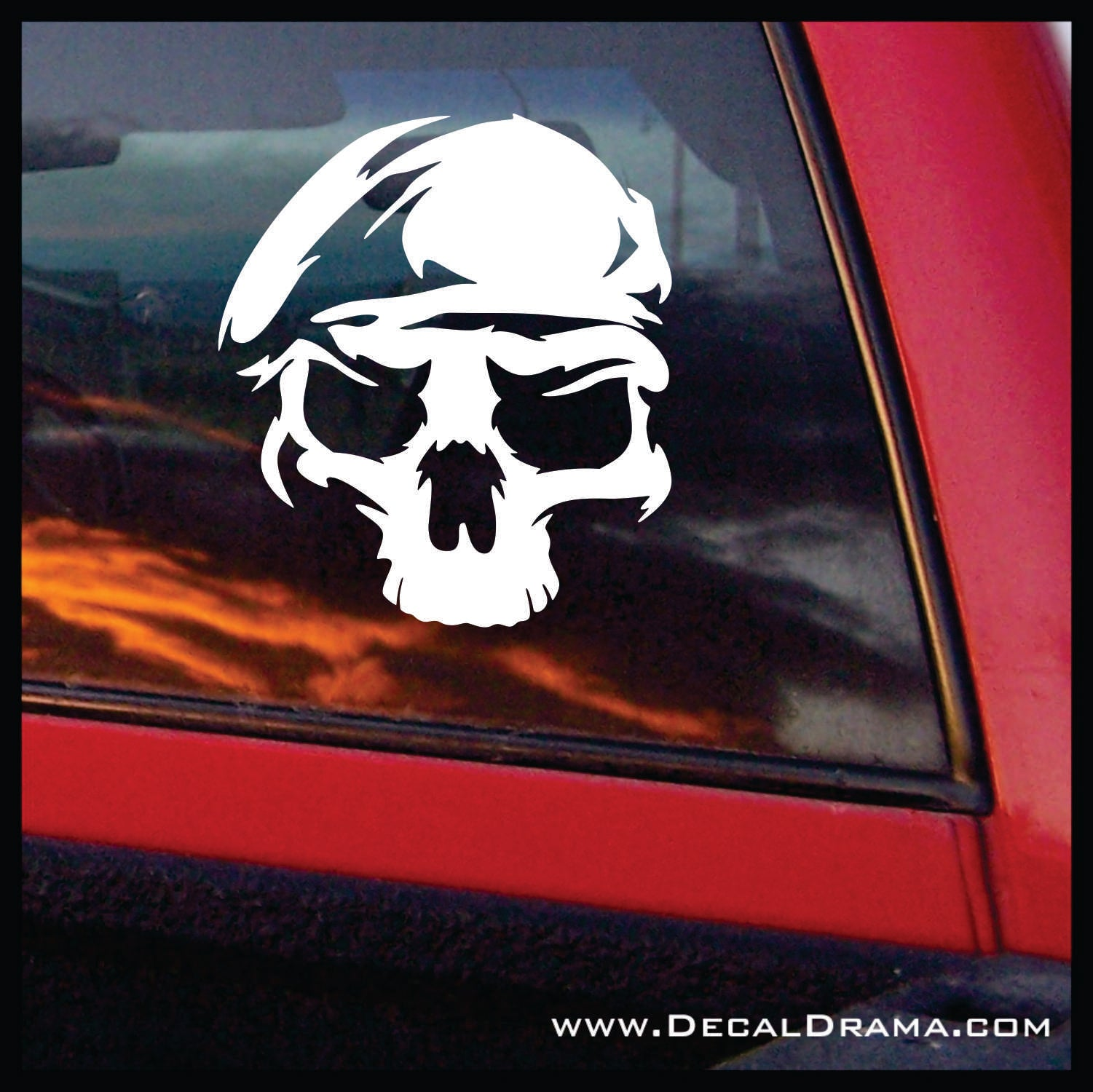 US Army Ranger Skull, United States Armed Forces Vinyl Car/Laptop Decal