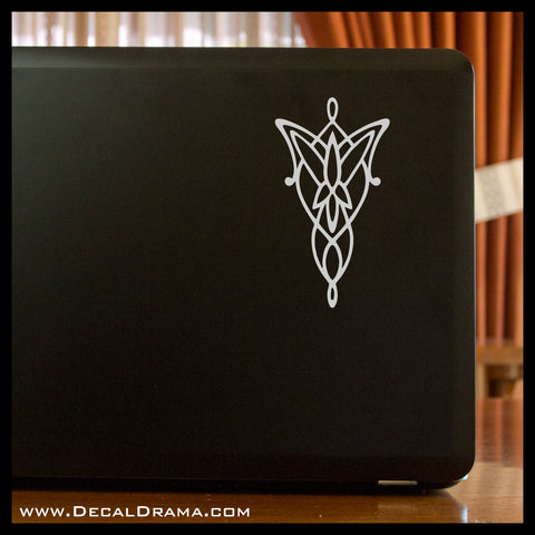 Arwen's Evenstar, Lord of the Rings-Inspired Fan Art Vinyl Decal