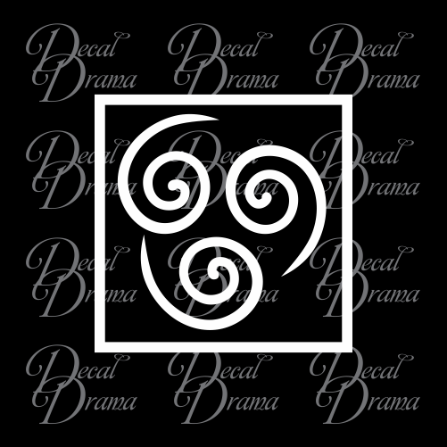 Air Element symbol, Avatar The Last Airbender-inspired Vinyl Car/Laptop Decal