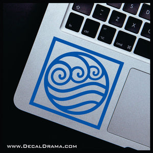 Water Element symbol, Avatar The Last Airbender-inspired Vinyl Car/Laptop Decal