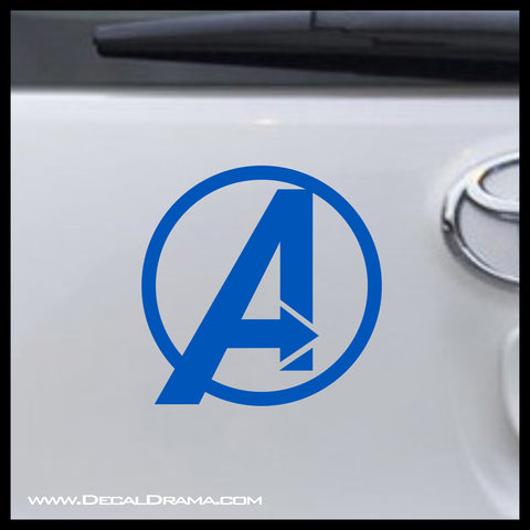 Avengers A emblem, Marvel Comics Avengers, Vinyl Car/Laptop Decal