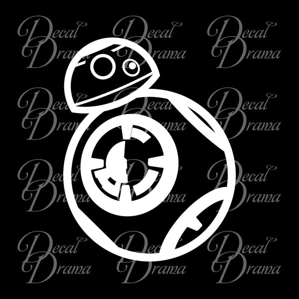 Baby Droid BB-8 Chibi, Star Wars-Inspired Fan Art Vinyl Wall Decal