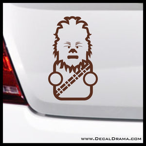 Baby Chewie Chewbacca Chibi, Star Wars-Inspired Fan Art Vinyl Wall Decal