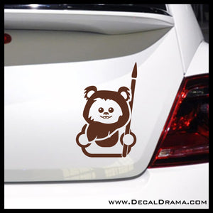 Baby Ewok Chibi, Star Wars-Inspired Fan Art Vinyl Car/Laptop Decal