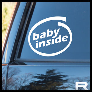 Baby Inside with Circle Swirl Vinyl Car/Laptop Decal