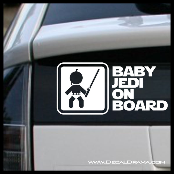 Baby Jedi on Board, Star Wars-Inspired Fan Art Vinyl Wall Decal