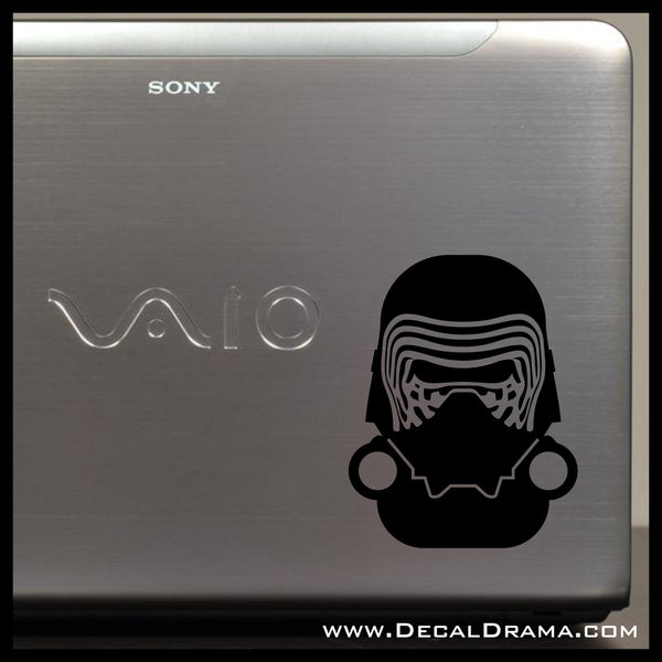 Baby Kylo Ren Chibi, Star Wars-Inspired Fan Art Vinyl Wall Decal