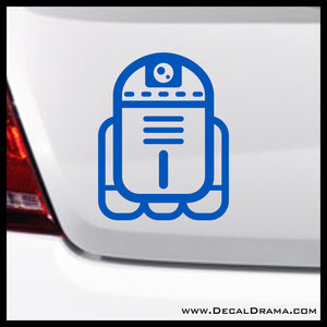 Baby Droid R2D2 Chibi, Star Wars-Inspired Fan Art Vinyl Wall Decal
