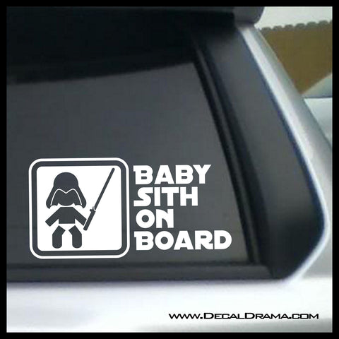Baby Sith on Board, Star Wars-Inspired Fan Art Vinyl Wall Decal
