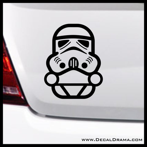 Baby Stormtrooper Chibi, Star Wars-Inspired Fan Art Vinyl Wall Decal