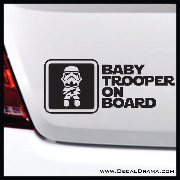 Baby Trooper on Board, Star Wars-Inspired Fan Art Vinyl Wall Decal