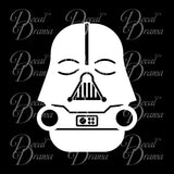 Baby Vader Chibi, Star Wars-Inspired Fan Art Vinyl Wall Decal
