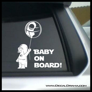 Baby Darth Vader On Board, Star Wars-Inspired Fan Art Vinyl Wall Decal