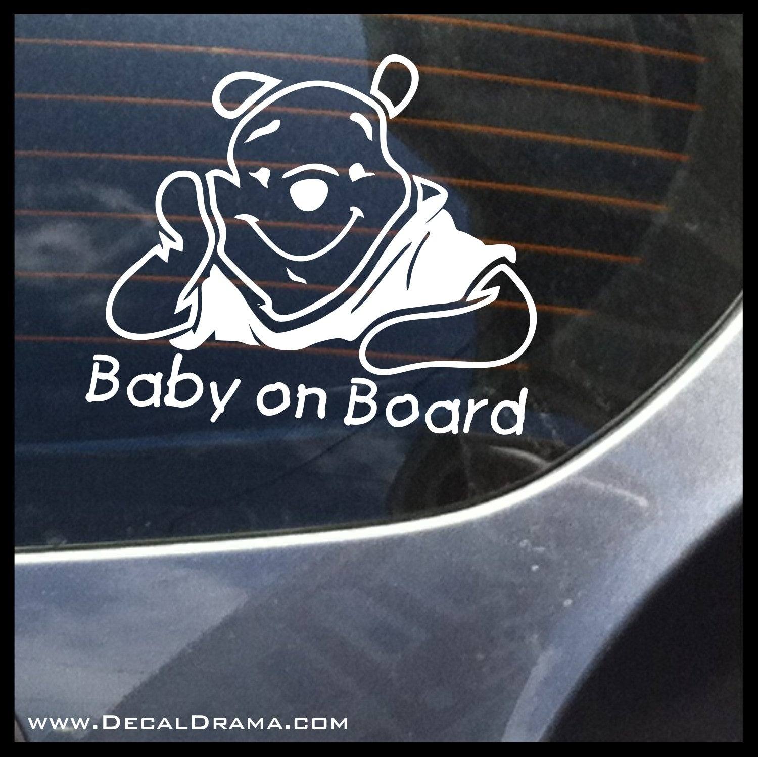 Winnie the Pooh Baby on Board Vinyl Car/Laptop Decal