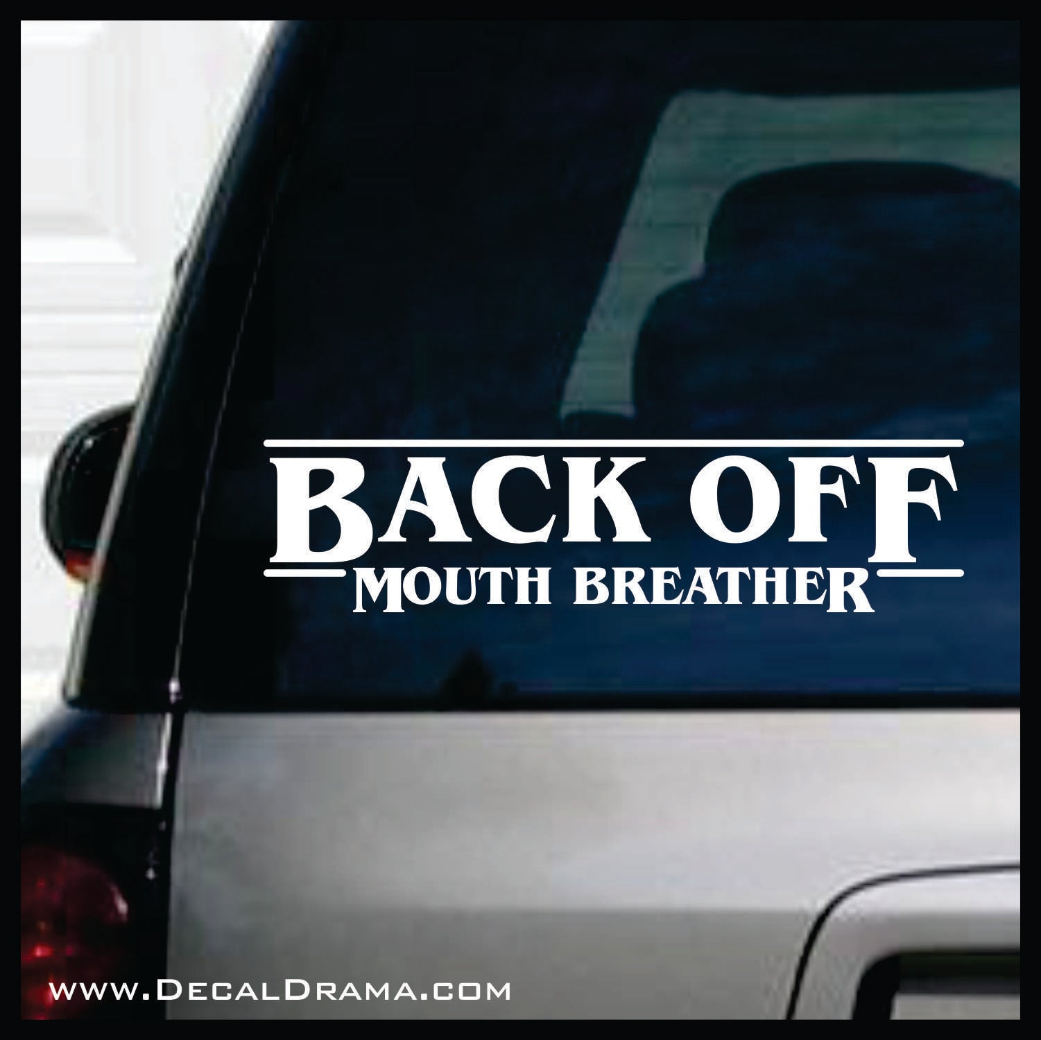Back Off Mouth Breather, Stranger Things Fan Art Vinyl Decal