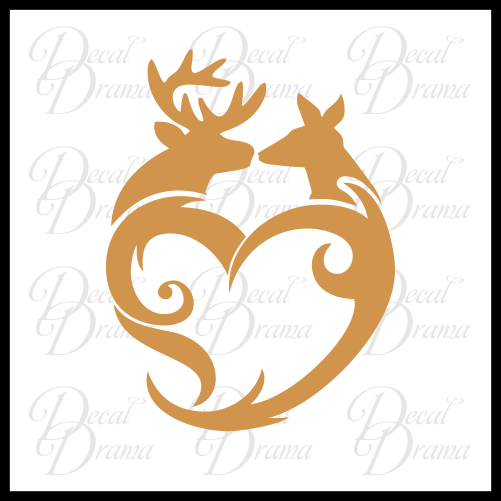 Bambi Love heart Vinyl Car/Laptop Decal