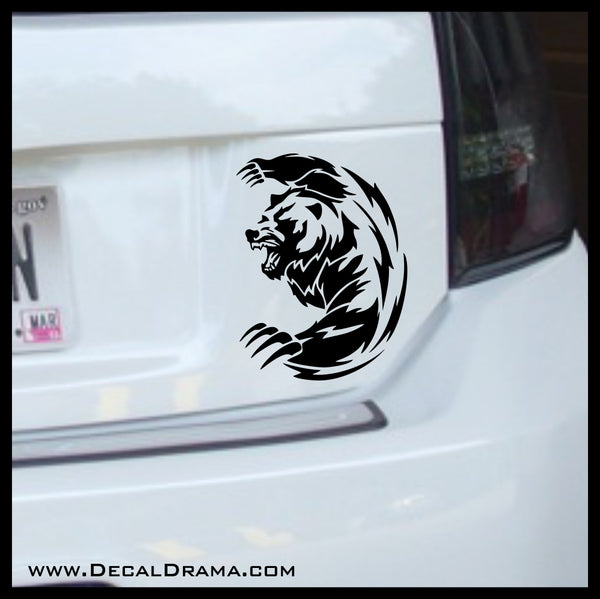 Battle Bear Attacks Vinyl Car/Laptop Decal