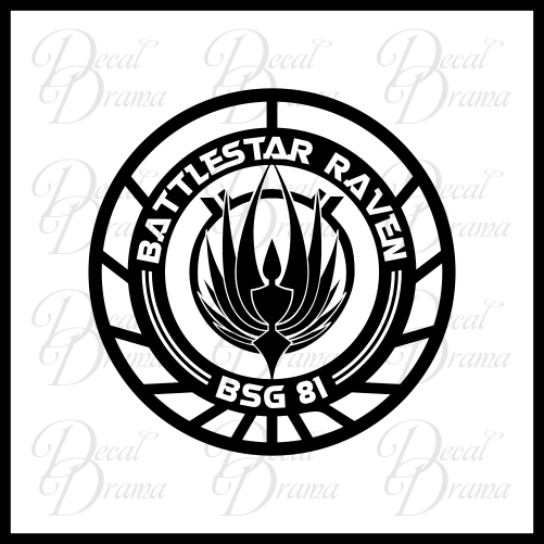 Battlestar Raven BSG81 emblem Vinyl Car/Laptop Decal