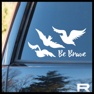 Be Brave, Tris' Ravens Tattoo, Divergent-inspired Fan Art Vinyl Car/Laptop Decal