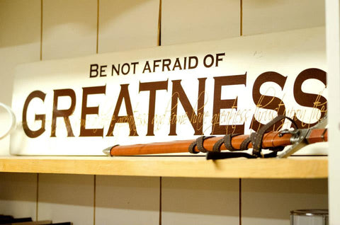 Be Not Afraid of Greatness Some are Born Great, Some Achieve Shakespeare 2-color Vinyl Wall Decal
