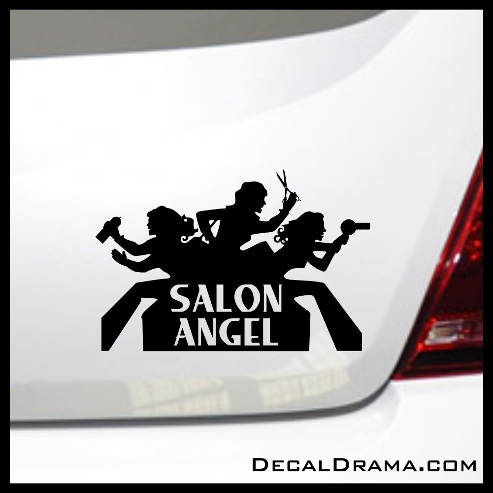 Salon Angel, Hair Stylist Beauty Salon Vinyl Decal