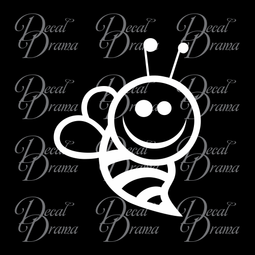 Bee Happy Bumblebee Vinyl Car/Laptop Decal