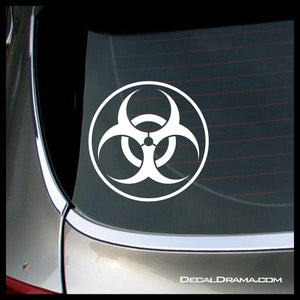 Biohazard symbol, Zombie Apocalypse Vinyl Car/Laptop Decal