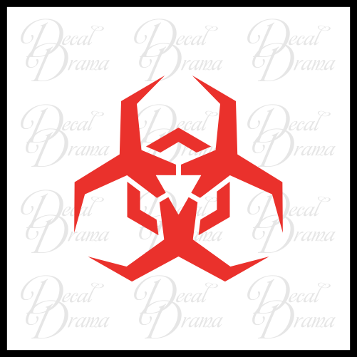 Biohazard symbol, stylized, Zombie Apocalypse Vinyl Car/Laptop Decal