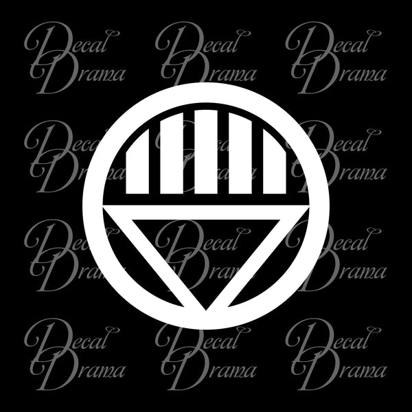 Black Lantern Corps (Death) emblem Vinyl Car/Laptop Decal