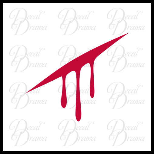 Blood Aspect symbol Homestuck-inspired Vinyl Car/Laptop Decal