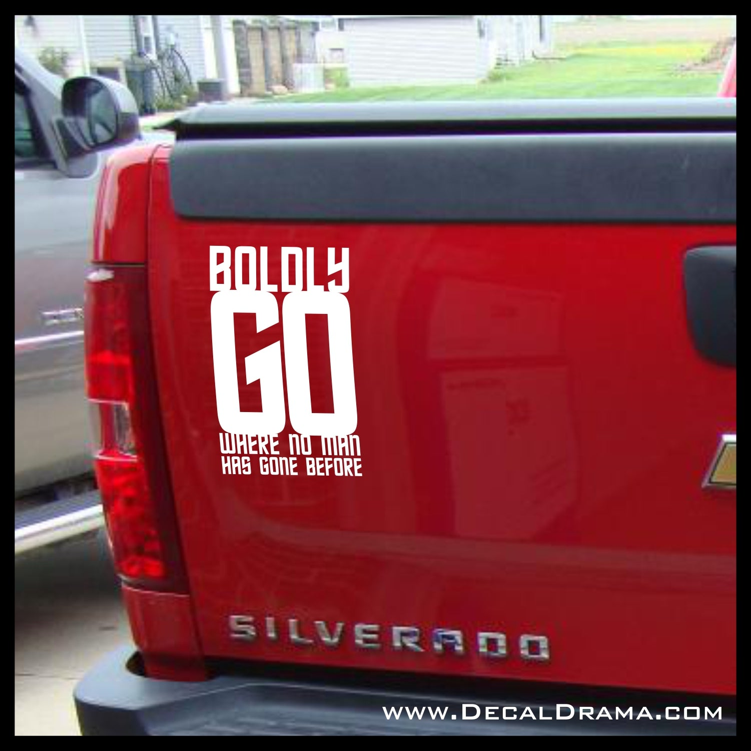 Boldly Go, Star Trek-inspired Vinyl Car/Laptop Decal