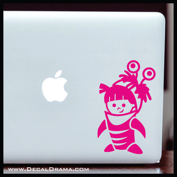 Boo in Monster Costume, Monsters Inc-inspired Vinyl Car/Laptop Decal