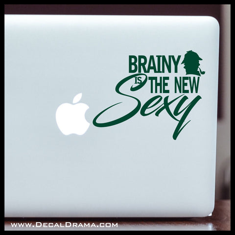 Brainy is the New Sexy, BBC's Sherlock-inspired Fan Art Vinyl Car/Laptop Decal