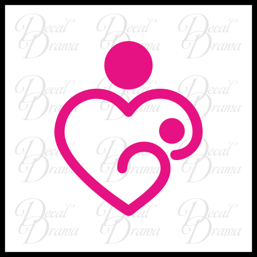 Breastfeeding Love Mother and Child Vinyl Car/Laptop Decal