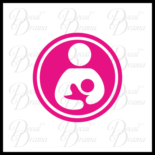 Breastfeeding Zone Vinyl Car/Laptop Decal