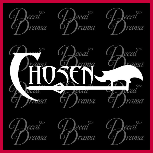 Chosen to be a Slayer, Buffy the Vampire Slayer-inspired Vinyl Car/Laptop Decal