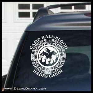 Camp Half-Blood Hades Cabin, Percy Jackson-inspired Fan Art Vinyl Decal