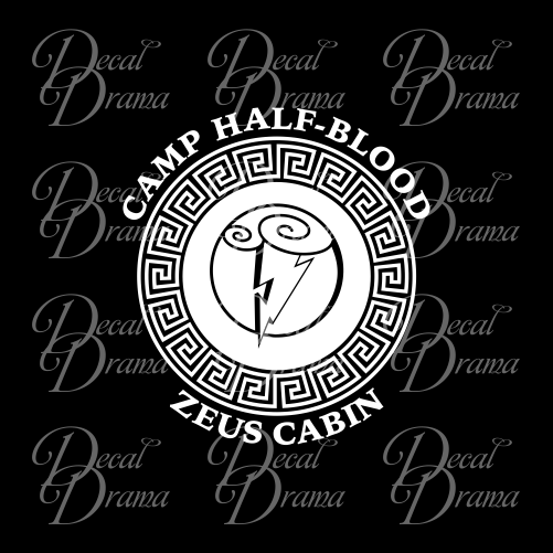 ... C& Half-Blood Zeus Cabin Percy Jackson-inspired Fan Art Vinyl Car/ ...  sc 1 st  Decal Drama & Camp Half-Blood Zeus Cabin Percy Jackson-inspired Fan Art Vinyl Car ...