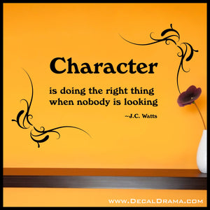 Character definition from JC Watts Vinyl Wall Decal