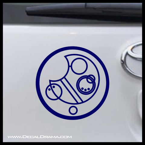 Allons-y in Circle Gallifreyan Doctor Who-inspired Fan Art Vinyl Car/Laptop Decal