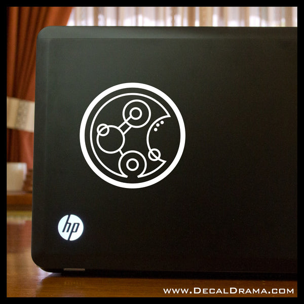Geronimo in Circle Gallifreyan Doctor Who-inspired Fan Art Vinyl Car/Laptop Decal