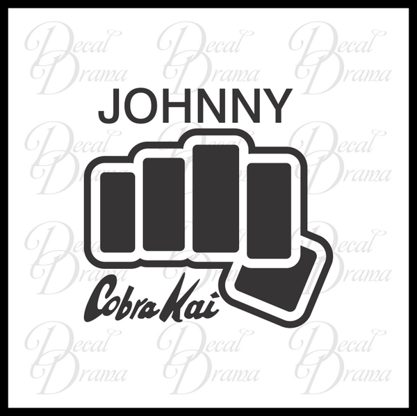 PERSONALIZED Cobra Kai Fist Gi emblem, Karate Kid Fan Art Vinyl Car/Laptop Decal