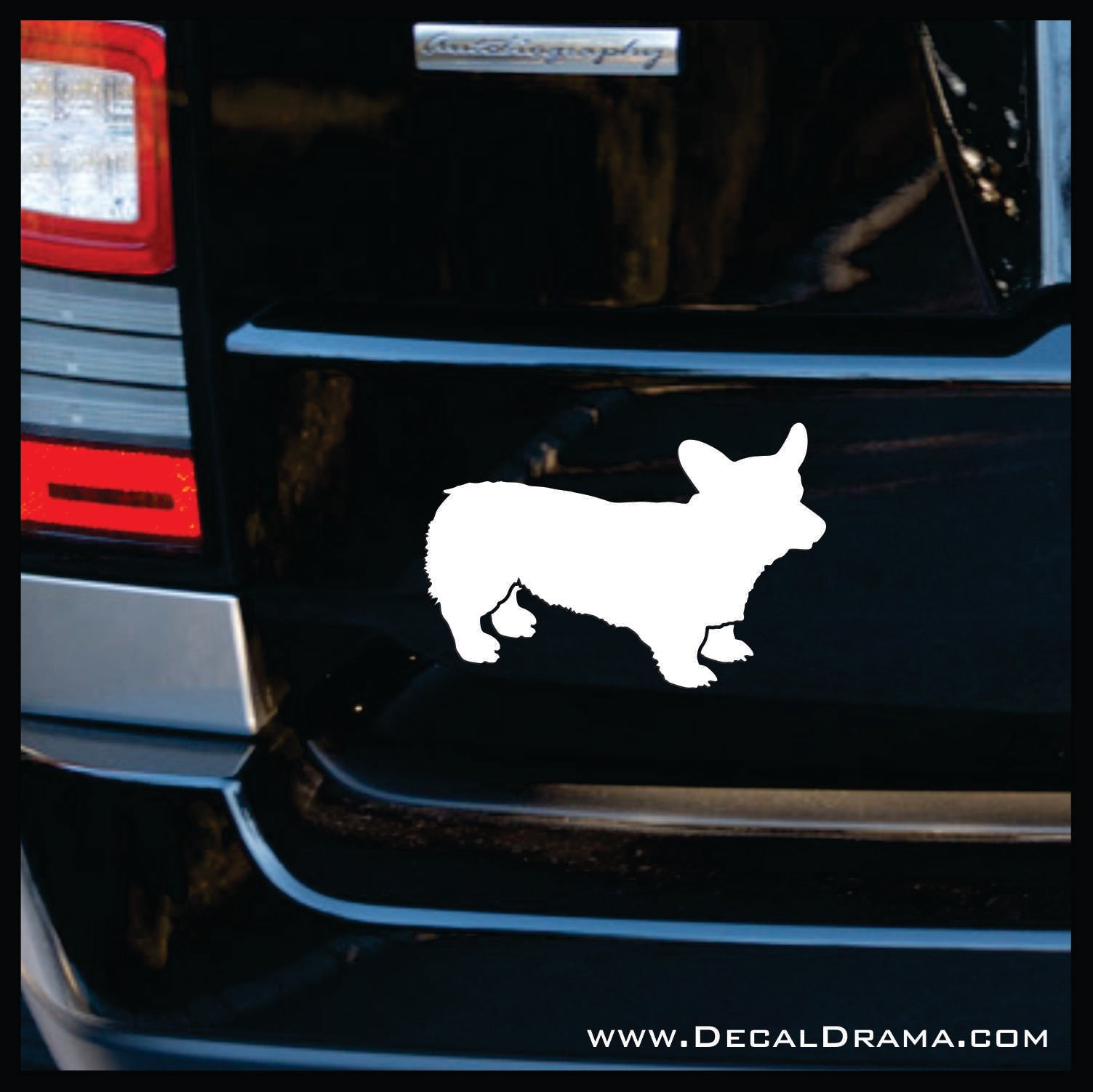 Welsh Corgi Dog Silhouette Animal Vinyl Car/Laptop Decal