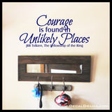 Courage is found in Unlikely Places, Lord of the Rings-Inspired Fan Art Vinyl Wall Decal